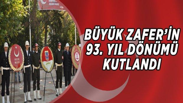 BİLECİK'TE BÜYÜK ZAFER'İN 93. YIL DÖNÜMÜ KUTLANDI