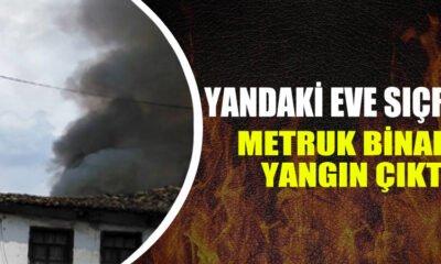 Osmanelide metruk binada yangın çıktı