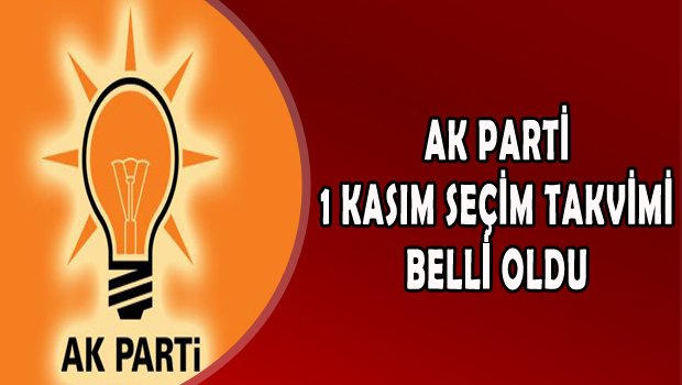 AK Parti'de 1 Kasım'da Yapılacak Genel Seçim Takvimi Belli Oldu.