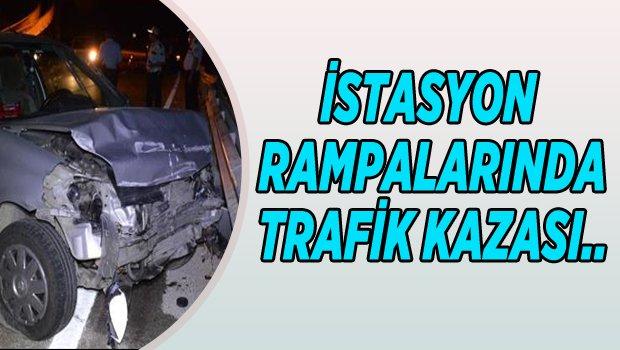 BİLECİK İSTASYON RAMPALARINDA TRAFİK KAZASI 1 YARALI..