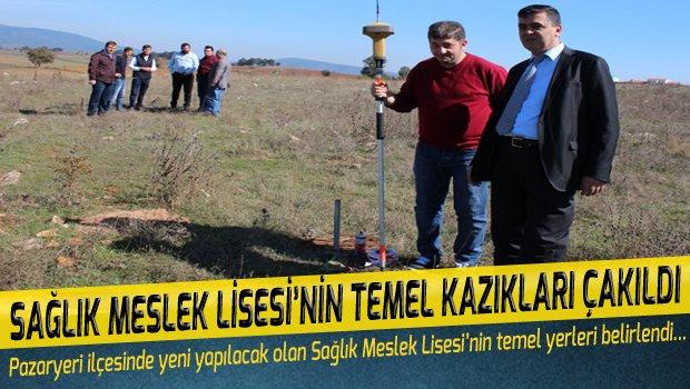 SAĞLIK MESLEK LİSESİ'NİN TEMEL KAZIKLARI ÇAKILDI