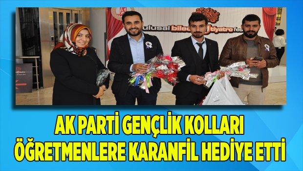 Ak Parti Gençlik Kolları, Öğretmenlere Karanfil Dağıttı