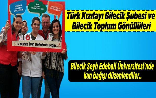 Bilecik Şeyh Edebali Üniversitesi'nde kan bağışı düzenlendiler