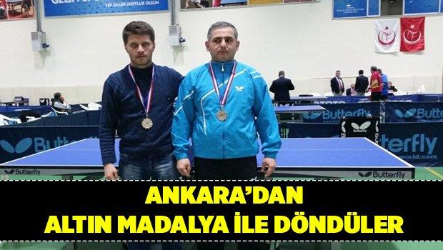 Ankara'dan Altın madalya ile döndüler
