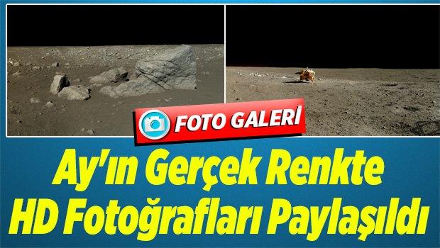 Ay'ın Gerçek Renkte HD Fotoğrafları Paylaşıldı