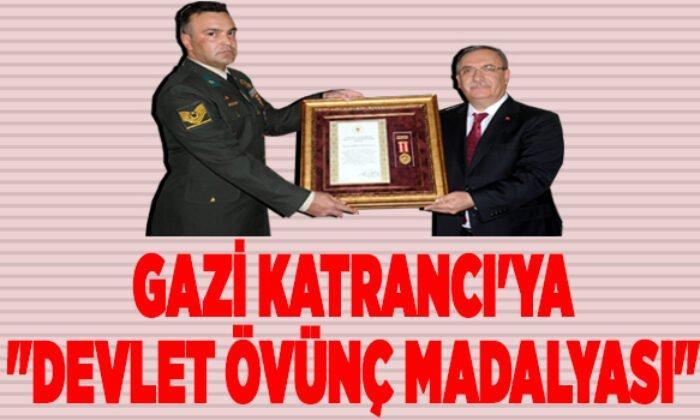 """GAZİ KATRANCI'YA """"DEVLET ÖVÜNÇ MADALYASI"""""""