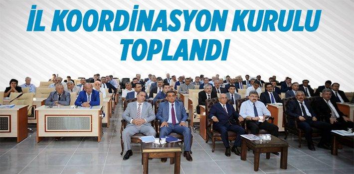 BİLECİK İL KOORDİNASYON KURULU TOPLANDI
