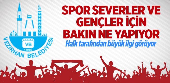 VEZİRHAN BELEDİYESİ'NDEN SPOR SEVERLERE..