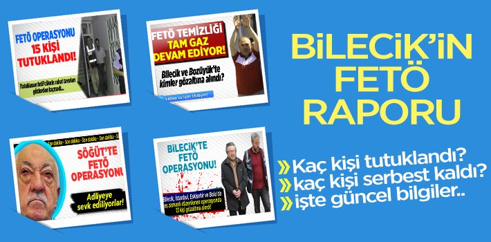BİLECİK'İN FETÖ RAPORU!