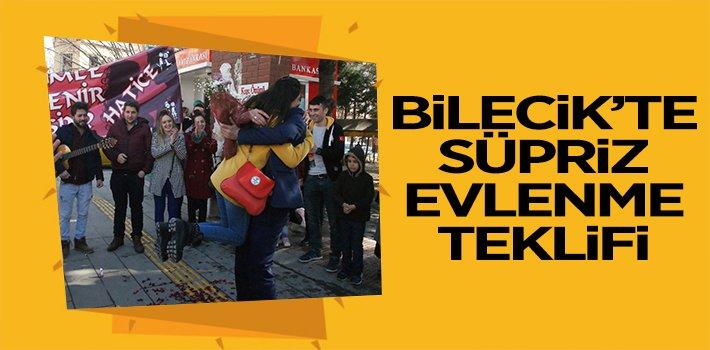 BİLECİK'TE SÜPRİZ EVLENME TEKLİFİ!