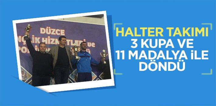 HALTER TAKIMI 3 KUPA VE 11 MADALYA İLE DÖNDÜ