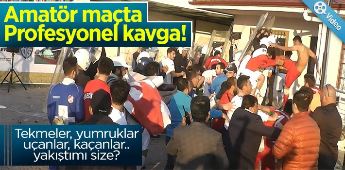 BİLECİK'TE AMATÖR MAÇTA PROFESYONEL KAVGA!