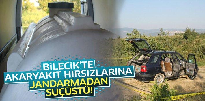 BİLECİK'TE AKARYAKIT HIRSIZLARINA JANDARMADAN SUÇÜSTÜ!