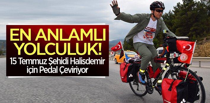 15 Temmuz Şehidi Halisdemir İçin Pedal Çeviren Karadavut, Bilecik'e geldi