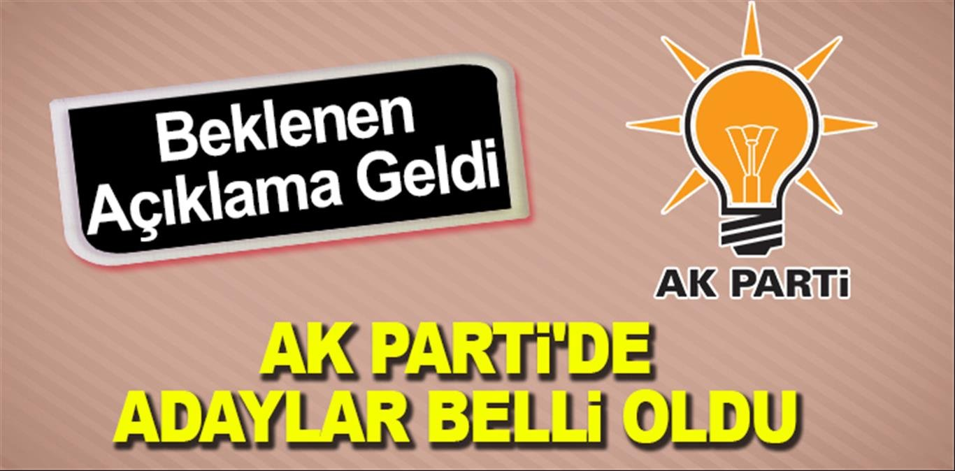 AK PARTİ'DE ADAYLAR BELLİ OLDU