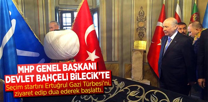 MHP Genel Başkanı Devlet Bahçeli Seçim Startını Söğüt'ten verdi.