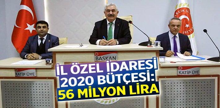Bilecik İl Özel İdaresi 2020 Bütçesi: 56 Milyon Lira