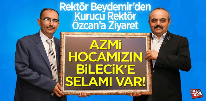 Rektör Beydemir'den Kurucu Rektör Özcan'a Ziyaret