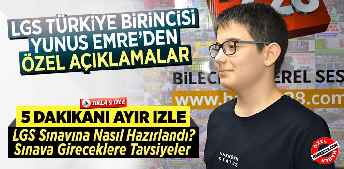 LGS Türkiye Birincisi Yunus Emre'den Haber228'e Özel Açıklamalar
