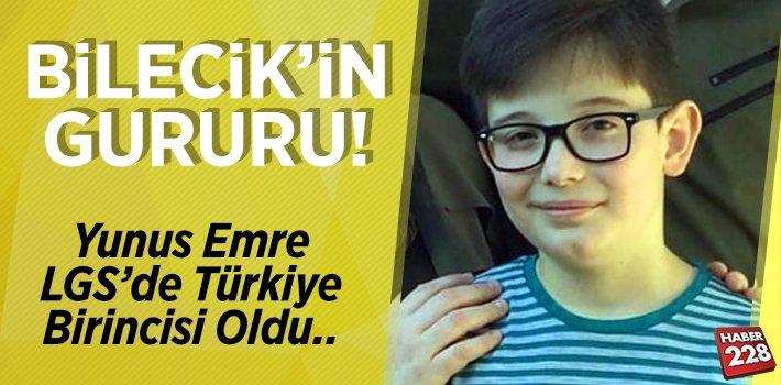 Bilecik'li Yunus Emre, LGS'de Türkiye Birincisi Oldu