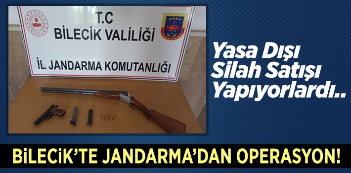 Bilecik'te Jandarma'dan Operasyon