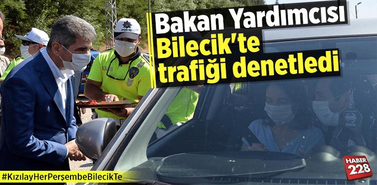 İçişleri Bakan Yardımcısı Bilecik'te trafiği denetledi