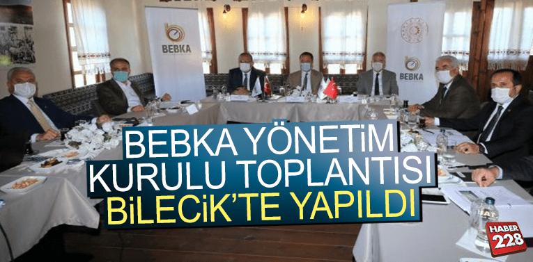 BEBKA Yönetim Kurulu toplantısı Bilecik'te yapıldı