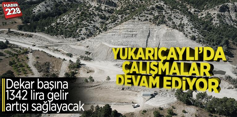 Yenipazar Yukarıçaylı Barajında çalışmalar aralıksız devam ediyor
