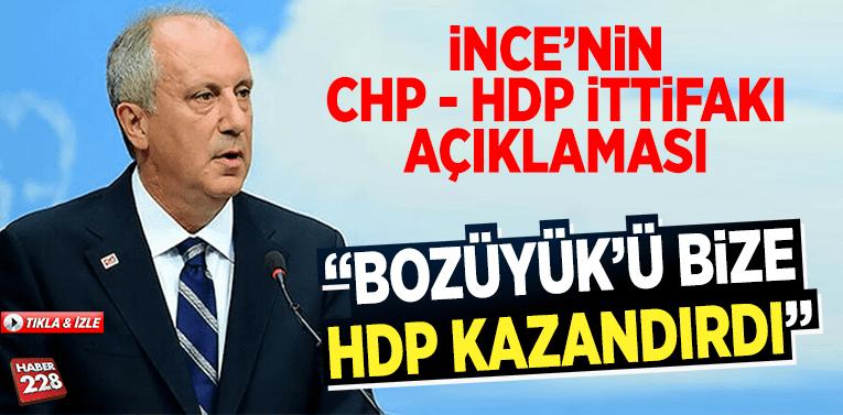 """Muharrem İnce: """"Bozüyük'ü Bize HDP Kazandırdı"""""""