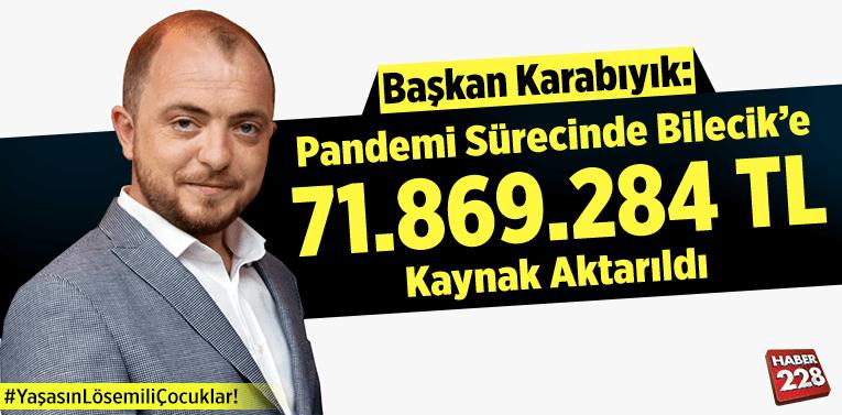"""Başkan Karabıyık: """"Bilecik'e 71.869.284 TL kaynak aktarıldı"""""""