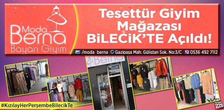 Bilecik'te Tesettür Giyim Mağazası Açıldı