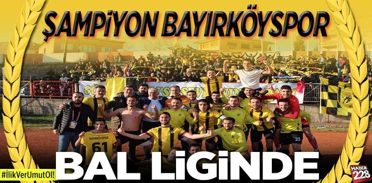 Şampiyon Bayırköyspor, BAL liginde