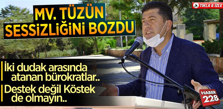 """MV. Tüzün Sessizliğini Bozdu: """"İki dudak arasında atanan bürokratlar.."""""""