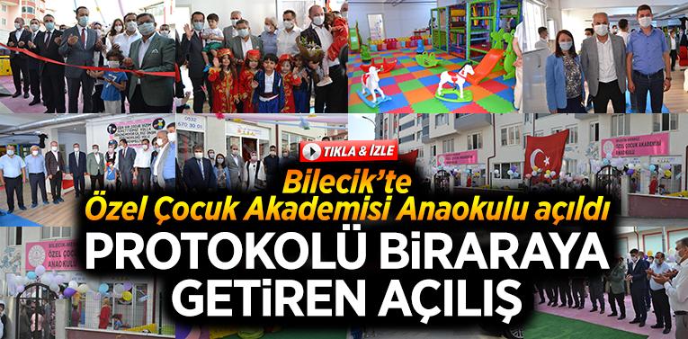 """Bilecik'te """"Özel Çocuk Akademisi Anaokulu"""" açıldı"""