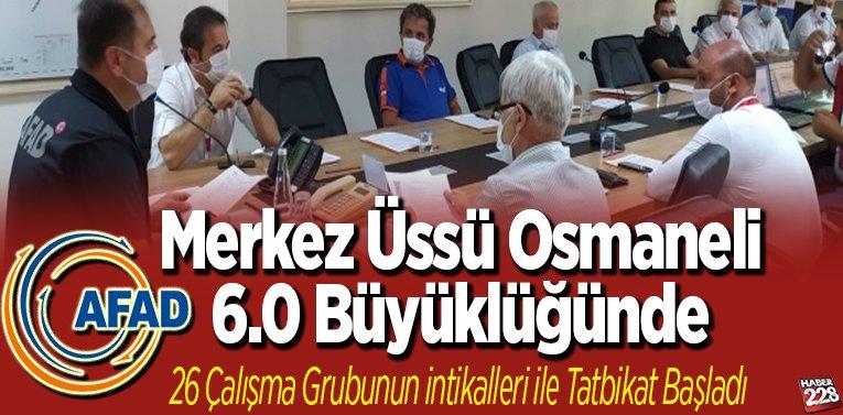 """Merkez Üssü Osmaneli 6.0 büyüklüğünde """"26 çalışma grubunun intikalleri ile tatbikat başladı"""""""