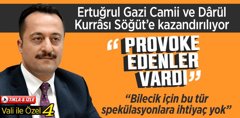 """Vali İle Özel 4 : """"Ertuğrul Gazi Camii ve Dârül Kurrâsı"""" ve """"Ağaç Eylemi"""""""