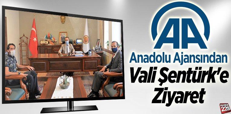 Anadolu Ajansından Vali Şentürk'e Ziyaret