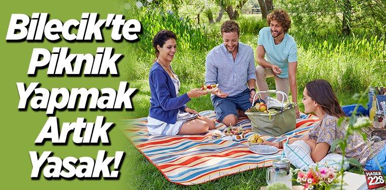 Bilecik'te Piknik Yapmak Artık Yasak!