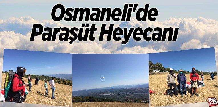 Osmaneli'de Paraşüt Heyecanı