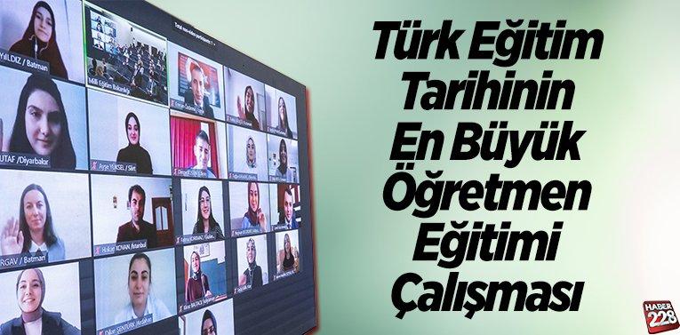Türk eğitim tarihinin en büyük öğretmen eğitimi çalışması