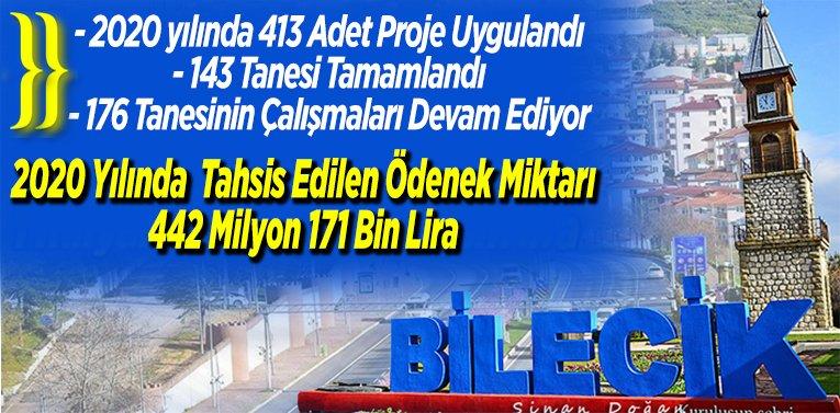 """Vali Şentürk Açıkladı; """"2020 yılında 413 Adet Proje Uygulandı"""""""
