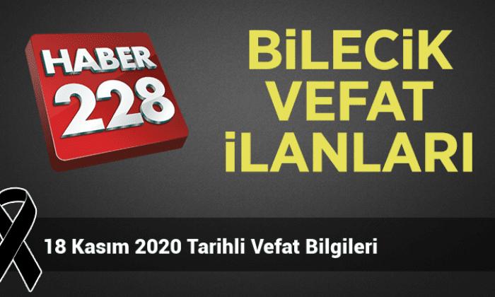 18 Kasım 2020 Tarihli Vefat Bilgileri