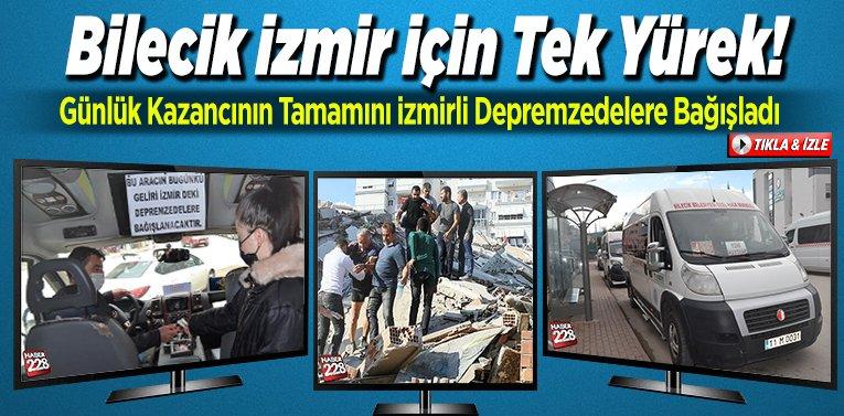 Bilecik İzmir için tek yürek!