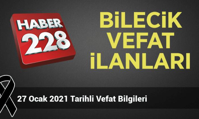 27 Ocak 2021 Tarihli Vefat Bilgileri