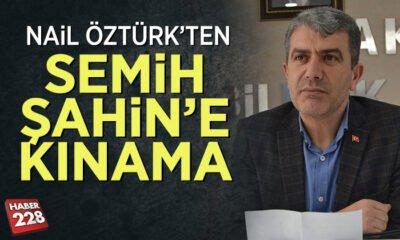 Başkan Nail Öztürk'ten, Başkan Semih Şahin'e Kınama