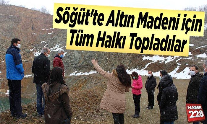 Söğüt'te altın madeni için tüm halkı topladılar