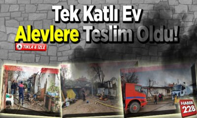 Beyce Köy'de tek katlı ev alevlere teslim oldu!