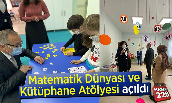 Matematik Dünyası ve Kütüphane Atölyesi açıldı