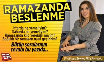 """Zeynep Nisa Ay'ın köşe yazısı: """"Ramazan'da Beslenme"""""""